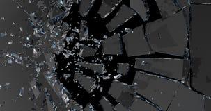 broken exponeringsglas 3d framför royaltyfri illustrationer