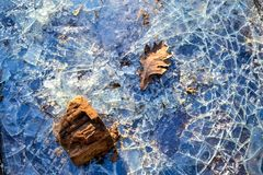 broken exponeringsglas Exponeringsglaset slogs Arkivbild