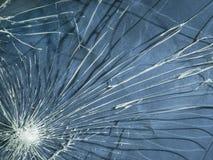 broken exponeringsglas Sprickatexturen Arkivbilder