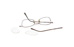 Broken eyeglasses Stock Image