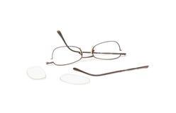 Broken eyeglasses Stock Image