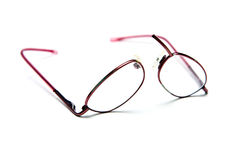 Broken eyeglasses. Isolated on white Stock Images