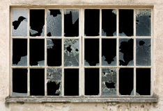 broken fönster Arkivfoto