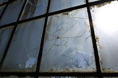 broken fönster Fotografering för Bildbyråer