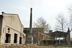 broken fabrik Royaltyfri Fotografi