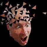 Broken face Stock Photo
