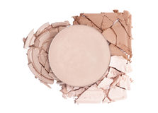 Broken face powder Royalty Free Stock Image