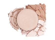Broken face powder royalty free stock image