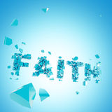 Broken faith abstract backround composition Royalty Free Stock Photo