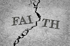 Broken Faith with Cracked Cement Royalty Free Stock Photo