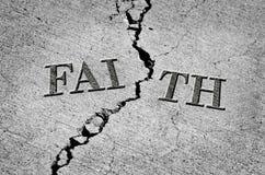 Broken Faith with Cracked Cement stock illustration