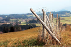 The broken fence Royalty Free Stock Photos
