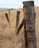 Broken Fence Stock Photo