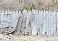 Broken fence wood Royalty Free Stock Images