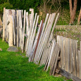 Broken fence Royalty Free Stock Images