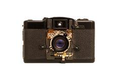 Broken film camera on white background Stock Image