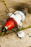 Broken fire hydrant Royalty Free Stock Image