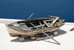 Broken fishing boat Stock Image