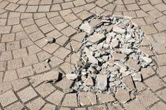 Broken floor tiles Royalty Free Stock Photo