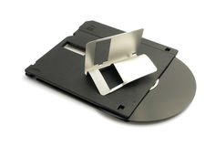 Broken floppy disk Royalty Free Stock Photos