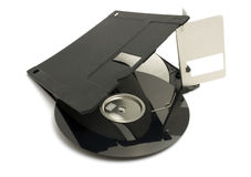 Broken floppy disk Stock Photography