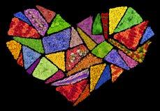 Broken floral  heart Royalty Free Stock Photo