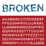Broken font Stock Photos