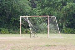 Broken football net. A broken football net, goal, football net, sport Royalty Free Stock Image