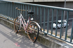 Broken Forgotten Bicycle Stock Photography
