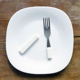 Broken fork Stock Image
