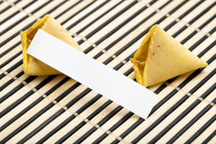 Broken fortune cookie Stock Photo