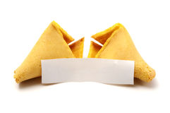 Broken fortune cookie Royalty Free Stock Image