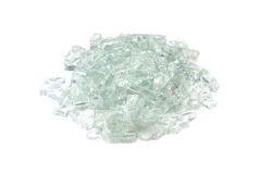 Broken fragments of silicate glass Stock Image