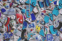 Broken Fragments of Turkish pottery Royalty Free Stock Photography