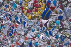 Broken Fragments of Turkish pottery Stock Photos