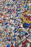 Broken Fragments of Turkish pottery Stock Photo