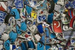 Broken Fragments of Turkish pottery Stock Photography