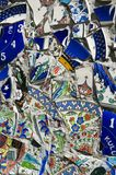 Broken Fragments of Turkish pottery Royalty Free Stock Photo