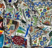 Broken Fragments of Turkish pottery Royalty Free Stock Image