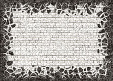Broken frame of black small brick backgrounds Stock Photos