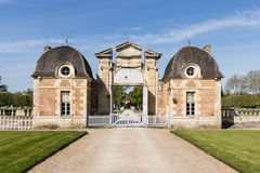 Broken Front Of The Chateau-de-la-Ferte Saint-Aubin royalty free stock images