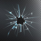 Broken Frosted Glass Realistic Icon Stock Photos
