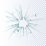 Broken Frosted Glass Realistic Icon Stock Photography
