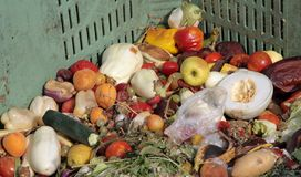 Broken fruit and vegetables to throw used as manure on the farm. Pile of broken fruit and vegetables to throw used as manure on the farm Royalty Free Stock Photo