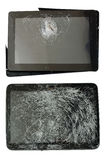Broken gadgets isolated Stock Images