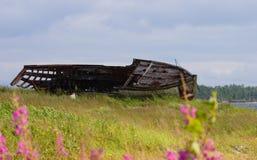 broken gammal ship royaltyfri fotografi