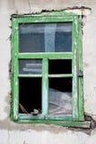 broken gammalt fönster Arkivbilder