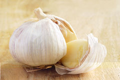 Broken garlic Royalty Free Stock Photography