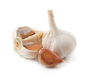 Broken garlic isolated Stock Photo