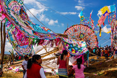 Broken giant kite, All Saints' Day, Guatemala Royalty Free Stock Image
